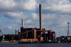 Панорама станции угольной электростанции стоковое фото
