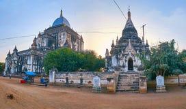 Панорама старого виска Thatbyinnyu, Bagan, Мьянмы Стоковые Изображения