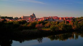 Панорама старого города Toledo, Рекы Tagus, Испании Стоковые Фотографии RF