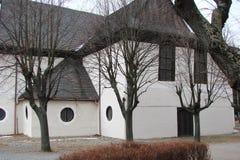 Панорама старых исторических зданий в центре города Kezmarok в Словакии Стоковая Фотография