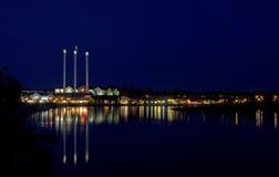 Панорама старых отражений стана на реке Стоковые Фото