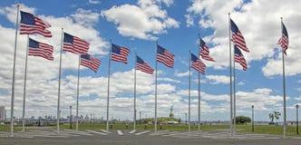 Панорама статуи свободы и горизонт NYC Стоковые Изображения RF