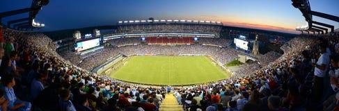 Панорама стадиона Gillette, Foxborough, МАМЫ, США стоковая фотография