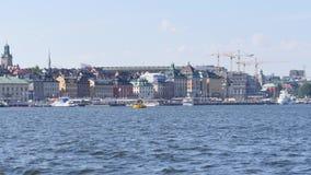 Панорама Стокгольма в лете сток-видео