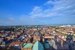 Панорама страсбурга, Франции Стоковое Фото