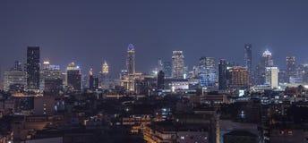 Панорама сумерк Бангкока Стоковое Изображение RF