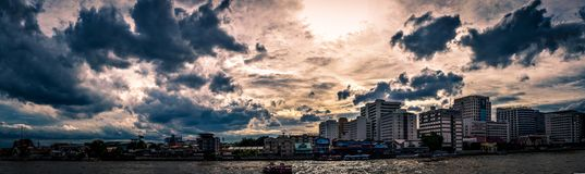 Панорама сцены Бангкока Стоковая Фотография