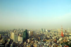 Панорама с башней токио Стоковая Фотография RF