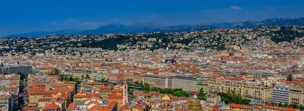 Панорама с взглядом славного города на Средиземном море Стоковое Фото