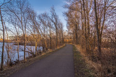 Панорама следа природы в Cedar Falls, Айове Стоковая Фотография RF