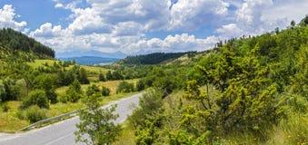 Панорама с пейзажем горы в национальном парке Pirin стоковые фото