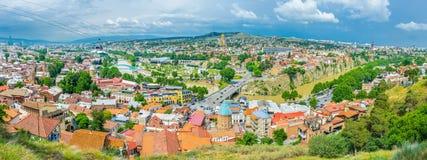 Панорама Тбилиси Стоковые Фотографии RF