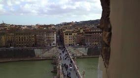 Панорама Тибра и Рима от Castel Sant Angelo, дня Италии лета акции видеоматериалы