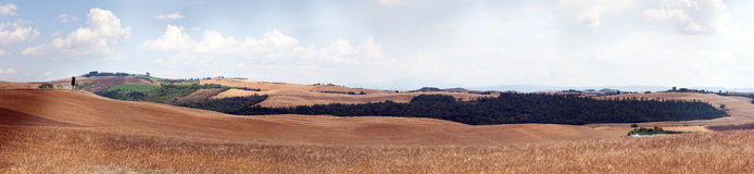 панорама Тоскана Стоковое Изображение RF