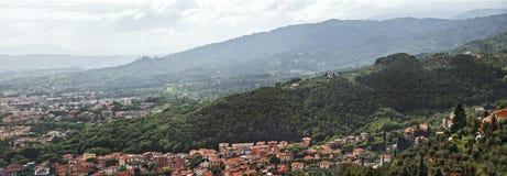 Панорама Тосканы Montecatini Terme, Италии, Европы Стоковые Изображения