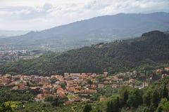 Панорама Тосканы Montecatini Terme, Италии, Европы Стоковое Изображение