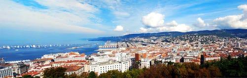 Панорама Триеста в Италии стоковое изображение