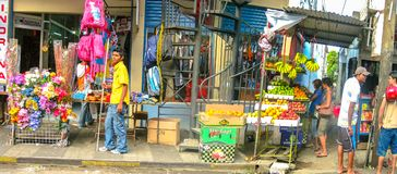 Панорама улицы Порт Луи стоковая фотография rf