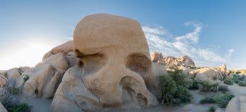 Панорама утеса черепа Стоковое Изображение RF