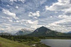 Панорама утесистых гор Канады Стоковая Фотография RF