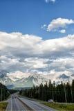 Панорама утесистых гор Канады Стоковые Изображения RF