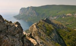 Панорама утесов свободного полета Крыма южных Стоковые Изображения RF