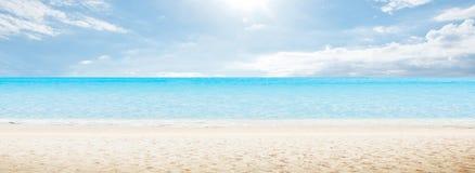Панорама утра моря Стоковые Изображения