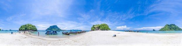 Панорама ушата Koh, Krabi, Таиланда Стоковое Фото