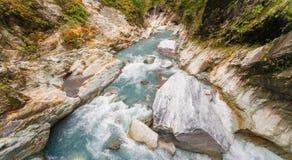 Панорама ущелья в национальном парке Taroko Стоковая Фотография
