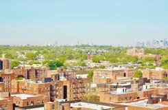 Панорама ферзей Нью-Йорка вида с воздуха Стоковое Фото