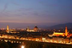 Панорама Флоренс, Италии, европы Стоковое Фото