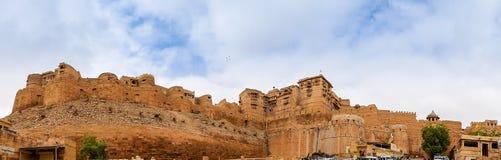 Панорама форта Jaisalmer, Раджастхан, Индия Стоковое фото RF