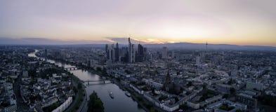 Панорама Франкфурта Стоковые Фотографии RF