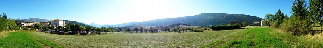 панорама Франции сельской местности южная Стоковое Изображение