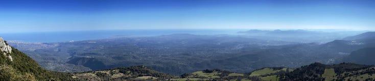 Панорама французской ривьеры Стоковые Фотографии RF