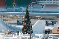 Панорама футбольного стадиона стоковые фото