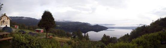 панорама фьорда Стоковое фото RF