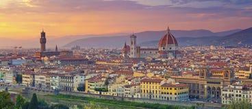 Панорама Флоренса стоковое фото rf
