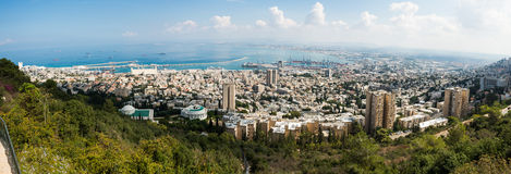 Панорама Хайфа Стоковое Фото