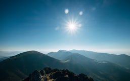 Панорама холмов горы Национальное ресервирование Mala Fatra природы стоковое фото