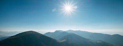 Панорама холмов горы Национальное ресервирование Mala Fatra природы стоковая фотография rf
