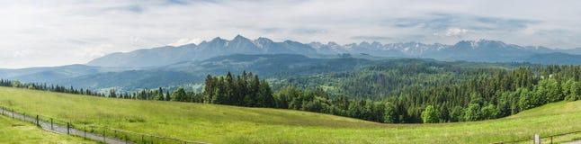 Панорама холмов Tatras Стоковые Изображения RF