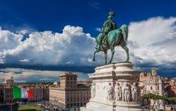 Панорама центра города Roma Стоковые Изображения