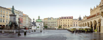 Панорама центра города Кракова исторического, Польши Стоковое фото RF