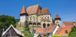 Панорама церковь-крепости Biertan стоковые изображения