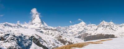 панорама Швейцария matterhorn Стоковое Изображение