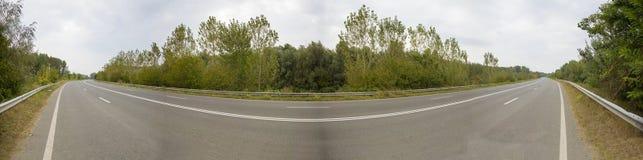 Панорама шоссе Стоковое Изображение