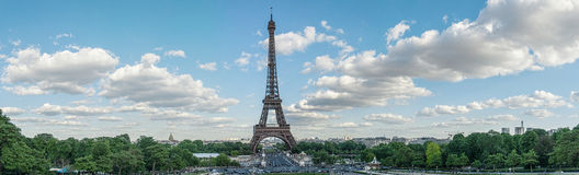 Панорама Эйфелеваа башни Стоковое Изображение