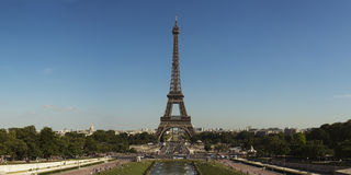 Панорама Эйфелева башни Стоковые Изображения
