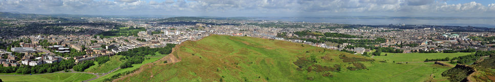 Панорама Эдинбурга Стоковые Изображения